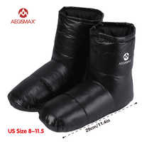 AEGISMAX sac de couchage accessoires canard bas pantoufles Camping Out doux chaussette unisexe intérieur/chaud Long voyage léger