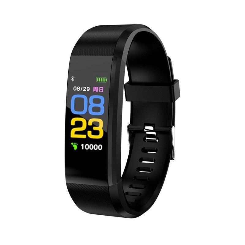 115 hombres deportes fecha calorías podómetro Monitor de sueño mujeres pulsera inteligente lifewaterproof recordatorio de llamada para Android IOS