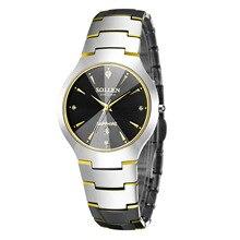 SOLLEN Sport Watch Date Calendar Stainless golden Silver Wrap Men's Quartz Wristwatch Business waterproof watch Gift / SL9009