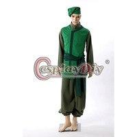 Косплэй DIY Аватар: об Аанге капуста купец Косплэй костюм для взрослых Для мужчин Карнавальный костюм для Хэллоуина индивидуальный заказ d0406