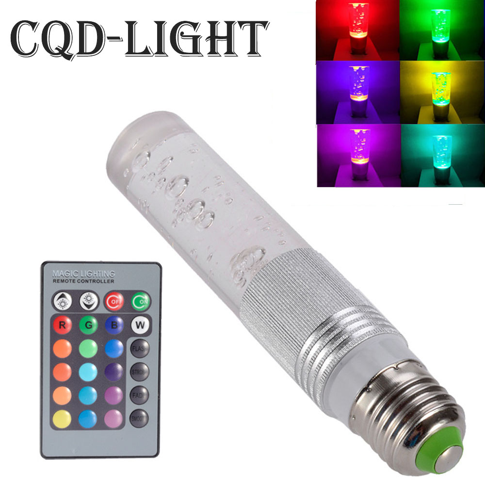E27 5W RGB 16 Color Changing LED Crystal Light Bulb Lamp IR Remote Control Dimmable 15w e27 led rgb light dimmable bluetooth app control mp3 music bulb color changing smart lamp