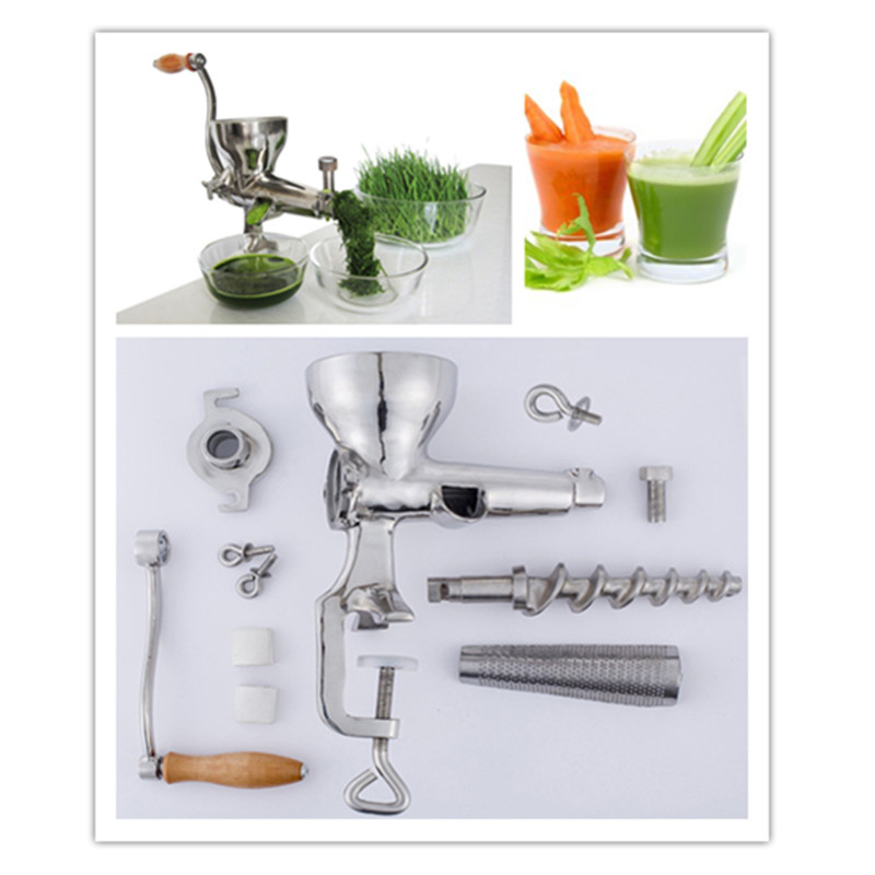 Multifunctional juicing machine manual stainless steel wheat grass lemon wheatgrass oranges slow screw juicer juice extractor ZF