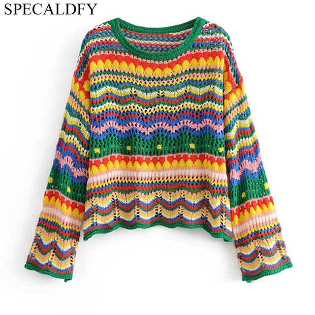 2018 Autumn Crochet Sweaters Women Sweaters And Pullovers Runway