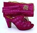 Zapatos italianos Con Los Bolsos de Moda de Alta Calidad de la Sandalia Zapatos Y Bolsas Establecidas Para la Boda Africana MM1014