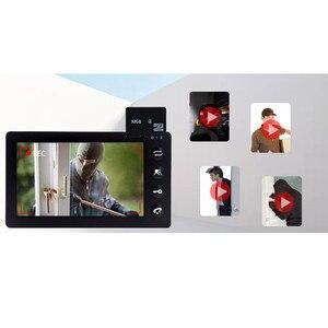 Image 5 - Dragonsview 7 Cal przewodowy wideodomofon domofon do drzwi System czarny rekord 1000TVL wykrywanie ruchu odblokuj kartę SD