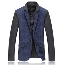 In the autumn of 2016 the new Men's jackets Fashion, cultivate one's morality grid splicing small suit big yards