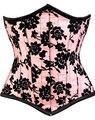 Sexy Lingerie Women's boned Underbust Corset classic Floral Brocade Waist control corset C8203