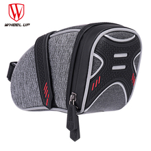 Wheel Up Bicycle Saddle Bag Tube Rear Tail Seatpost Bag Bike Accessories Rainproof Reflective Cycling Bike With Ligh Hook wheel up bicycle rear bag 3d shell rainproof reflective shockproof cycling bag bike seatpost bag
