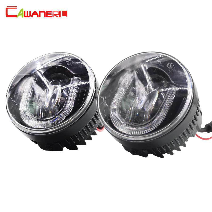 Cawanerl For Citroen C4 C3 DS4 Xsara Picasso Car LED Fog Light DRL Daytime Running Lamp 12V Styling 2 Pieces