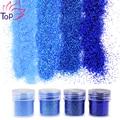 4 Bottle/Set Blue Color Dust Gem Nail Glitter Decorations Acrylic Glitter Powder 3D Nail Art Tips BG037-040