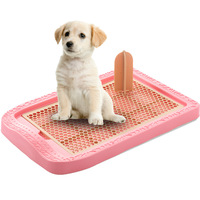 New pet platform upright column male female universal net large dog toilet Puppy Plastic Potty Training Tray with Target