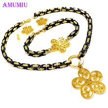 jewelry sets necklace set jewelry gold jewelry set 2018 New High Fashion Dubai Gold Black Color Wedding African Beads JS039
