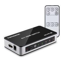 Commutateur HDMI haute vitesse Tomsenn 4K x 2K 4 ports 4x1 avec fonction image dans limage (PiP) et télécommande sans fil IR