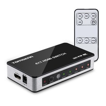 Tomsenn 4K x 2K 4 Port High Speed HDMI Switch 4x1 with Picture In Picture (PiP) Feature and IR Wireless Remote Control