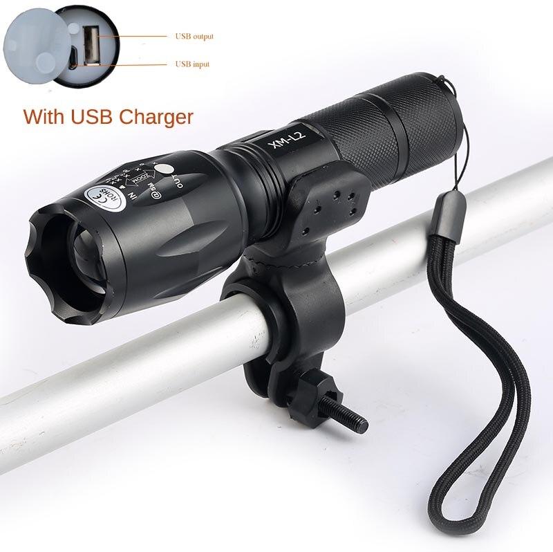 2017 новые <font><b>USB</b></font> фонарик 8000 Люмен фонарик светодиодный CREE XM-T6 L2 спереди факел Велосипедное освещение Велосипеды лампа <font><b>USB</b></font> Зарядное устройство + дер&#8230;
