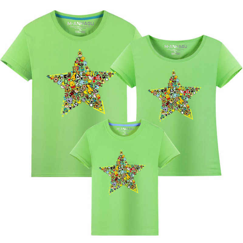 Familie passenden outfits sommer familie kleidung neue t-shirt familie aussehen 2017 jungen kleidung mädchen kleid mutter tochter kleider party