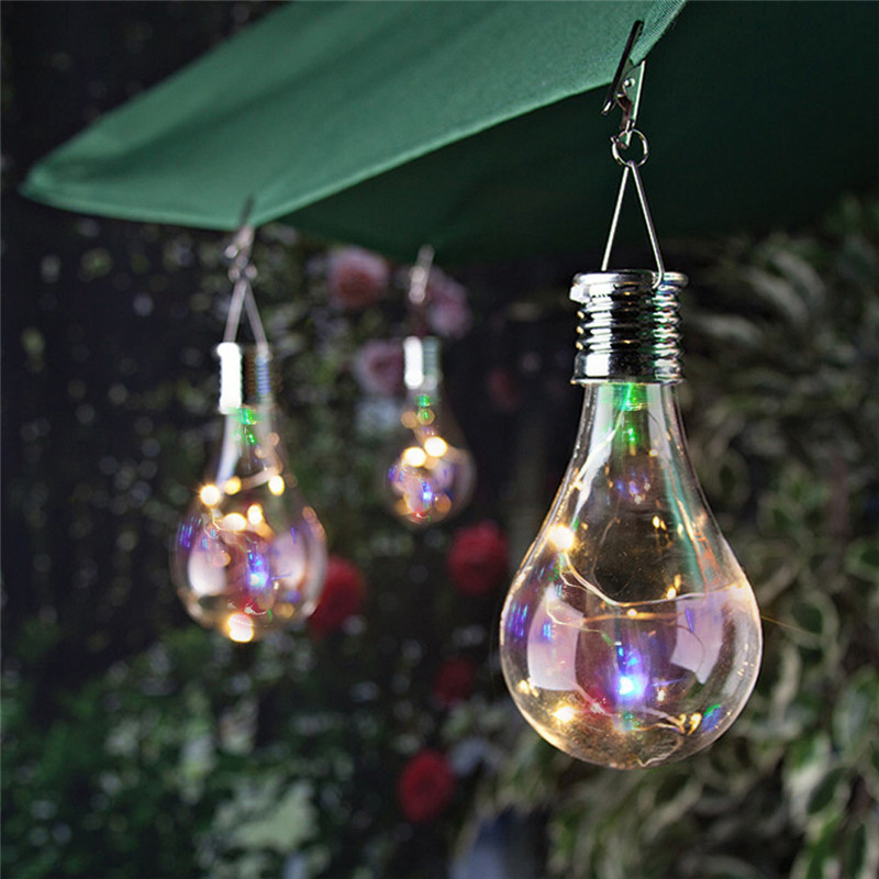 Waterproof Solar Rotatable Outdoor Garden Camping Hanging LED Light Lamp Bulb String Lights