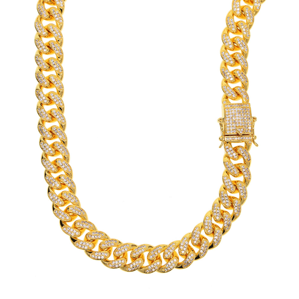 2018 Hip Hop thick Long Gold Chain For Men Gold Color rope chain Necklace Mens rock Jewelry Male Chain Necklaces dragon clasp