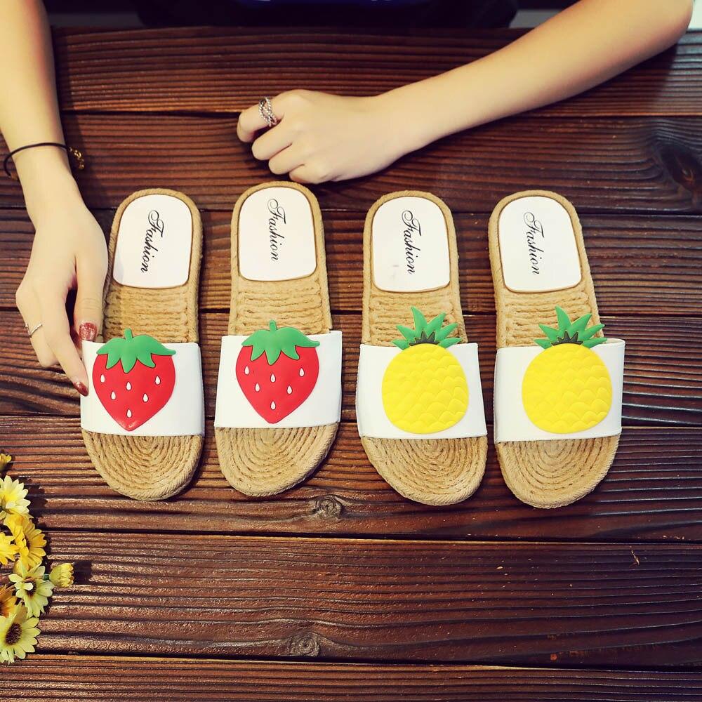 Sagace 2018 Women Fashion Sandals Summer Women Flip Flop Non-Slip Flat Sandals Home Slippers Casual Straw Shoes MAY 03 summer fashion sandals women shoes non slip hook