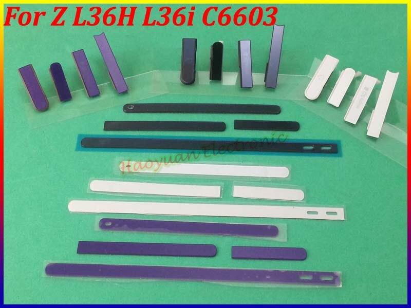 imágenes para Original Nuevo Lado Tira De La Tapa + Tarjeta SIM + Micro SD + Carga + Auriculares Enchufe Funda Carcasa Para Sony Xperia Z L36H L36i C6603 C6602