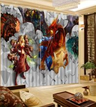 modern curtains for living room 3d curtains gravel dinosaur Anime home bedroom decoration Natural Beautiful(China)