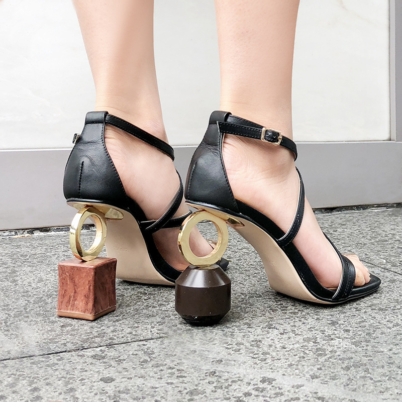 Carole Levy 2019 Newest Square Tor Open Toe Lady Rome Style Sandals Female Party Novelty Special Heels Solid Women Shoes SummerCarole Levy 2019 Newest Square Tor Open Toe Lady Rome Style Sandals Female Party Novelty Special Heels Solid Women Shoes Summer