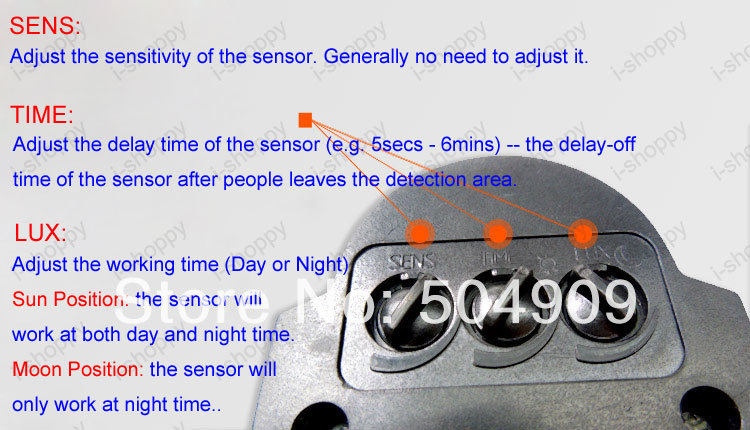 High Power 50W 4500LM Detector PIR Motion Sensor Security Flood Light Gate Stairs Garden Garage Exit Entrance Lamp Kit IP65 In Outdoor Wall Lamps From