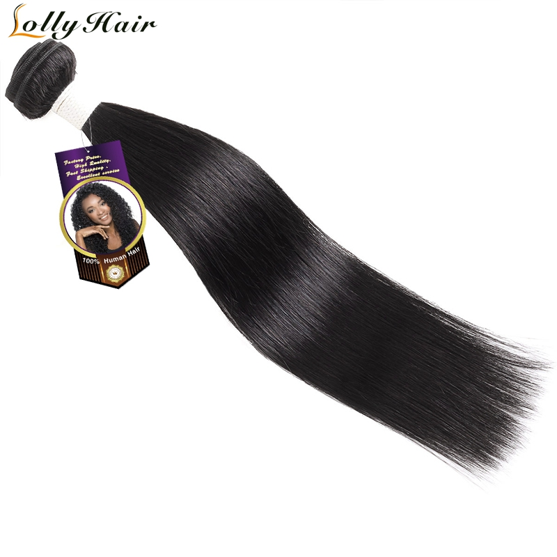 Lolly Hair Peruvian Straight Hair Bundles 1 PC Only Remy Hair Extensions 100% Human Hair Weave Bundles 8-28 inch Free Shipping