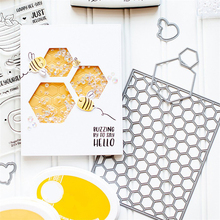 DiyArts Honeycomb Cover Metal Cutting Dies New 2019 Background Craft Scrapbooking Embossing Die Cut Stencil Card Making