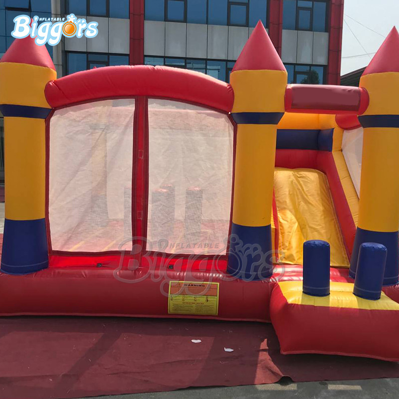 Commercial grade inflatable bouncy castle with slide combo bounce house