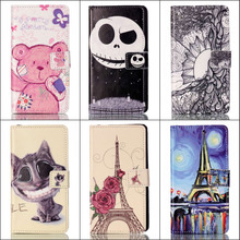 For Coque Sony Xperia M4 Aqua Protector Funda Cartoon Leather Cover for Sony Experia M4 Case Wallet Flip Mobile Phone Cases