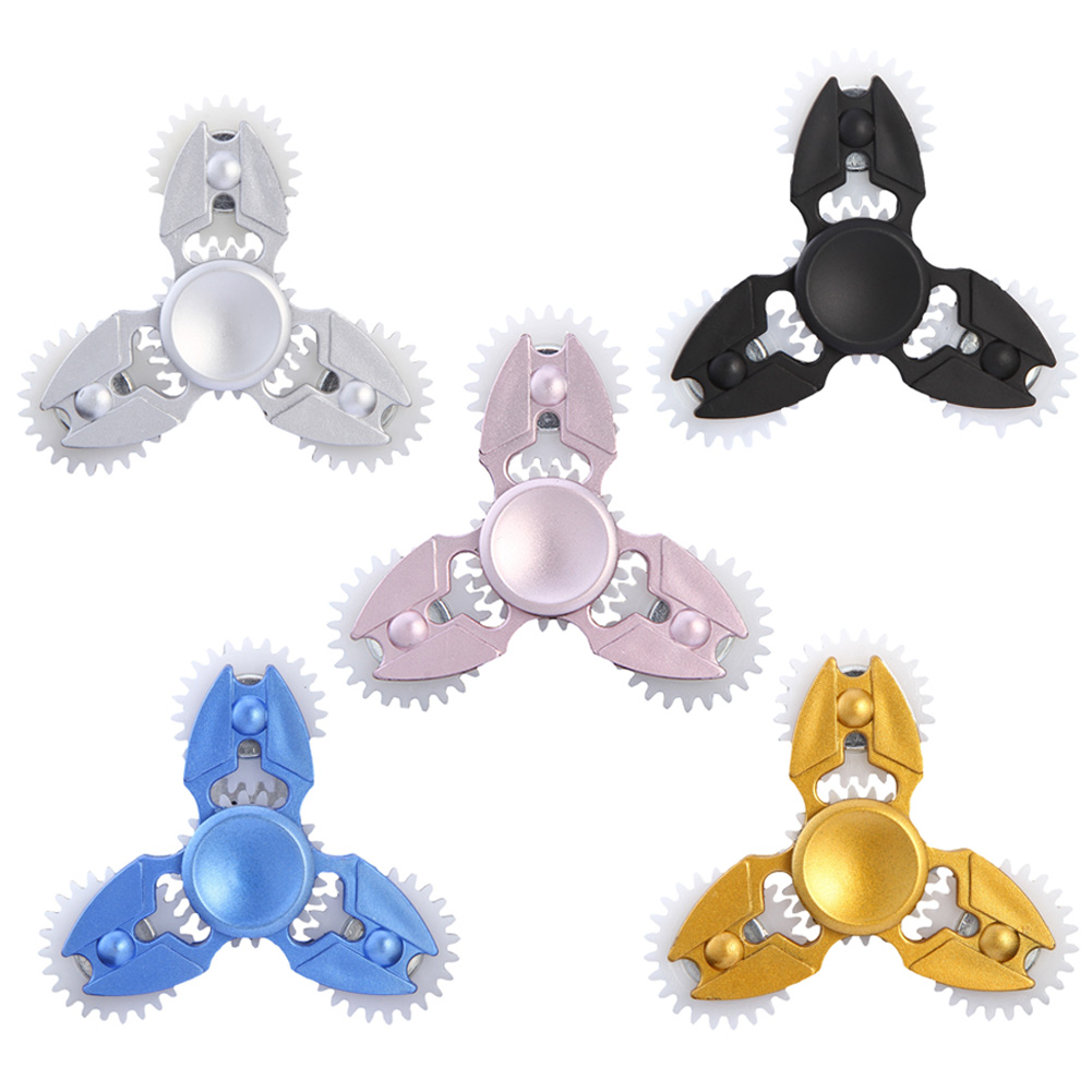 2017 Three Gears Fidget Spinners Metal Hand Spiner Gyro Figit Hand Spinner...