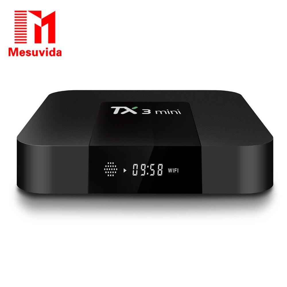 New Mesuvida TX3 Mini Set-top TV Box Amlogic S905W Quad-core CPU Android 7.1 2.4GHz WiFi 2GB RAM DDR3 16GB ROM 4K Media Player mini m8s android 4k tv box amlogic s905 android 5 1 quad core wifi bt 4 0 ram 2gb rom 8gb set top box media player