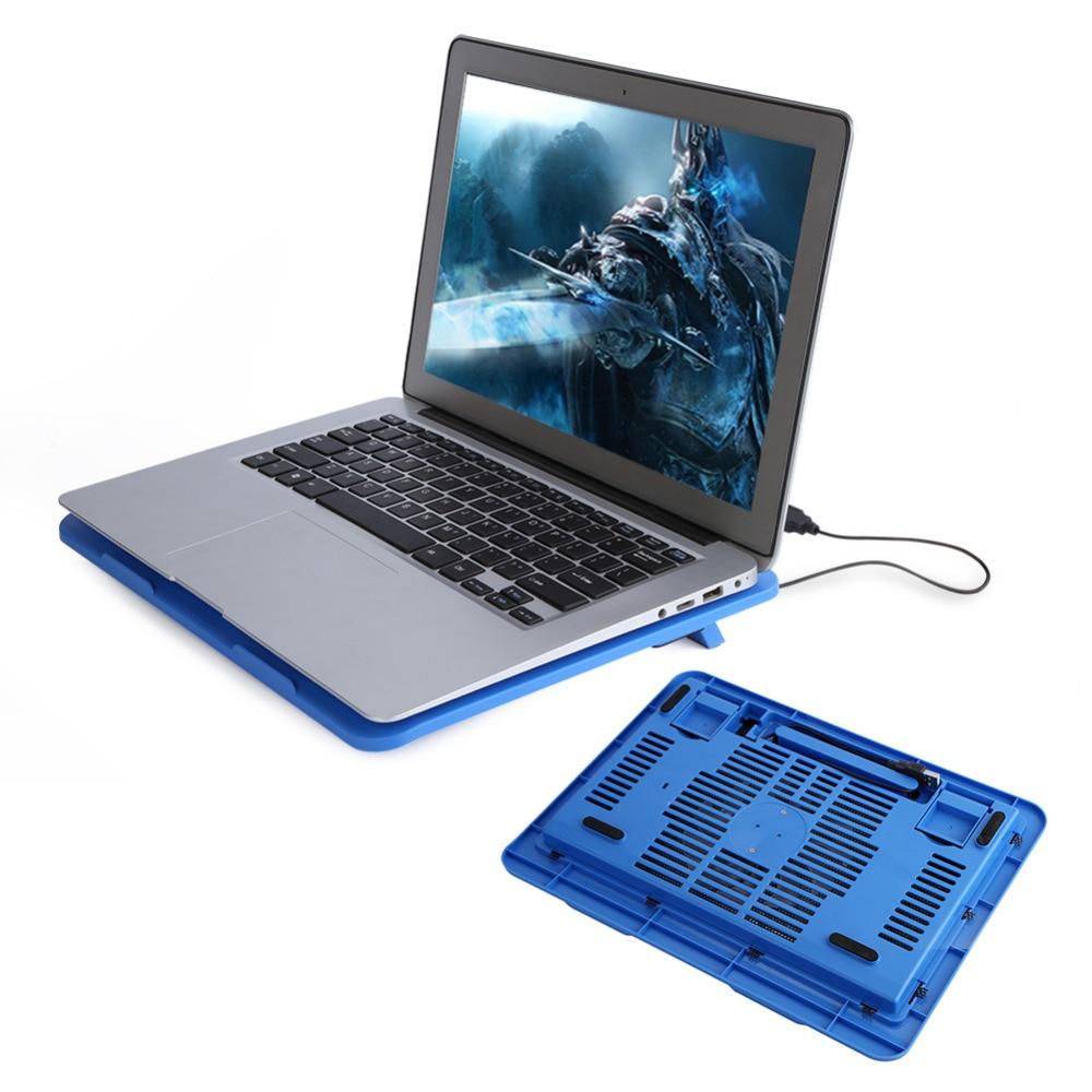 USB Refroidisseur D'ordinateur Portable Stand Base Fan Cooler Cooling Pad pour 14 Ou Ci-dessous Notebook Cooling Pads Fans
