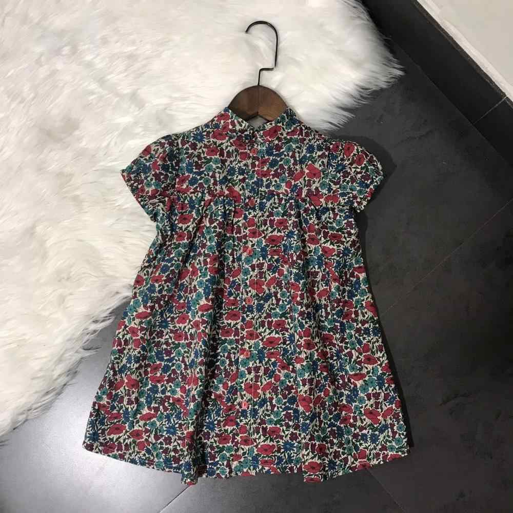 summer baby dress floral pattern short sleeve toddler baby girls dresses sweet kids clothes princess dress
