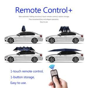 Image 2 - Автоматический автомобильный Зонт 450x230 см с дистанционным управлением, автоматический круглый автомобильный тент, солнцезащитный тент для автомобиля, уличная палатка