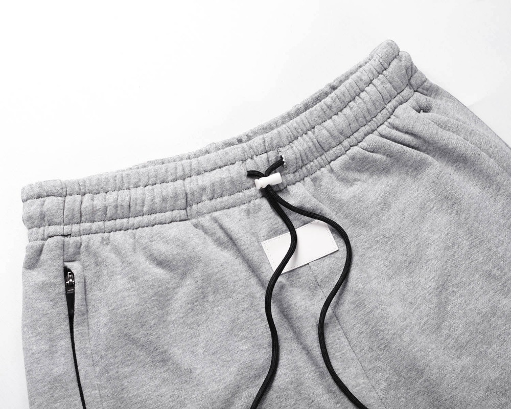 De Los Streetwear Co Pantalones Moda Chándal Lado Botón gris Pista Hombres Negro 88wFrqE5