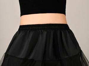 Image 5 - 2018 جديد ثوب نسائي طويل تول التنانير ثلاث طبقات إمرأة تحتية لفستان الزفاف الأبيض/الأسود