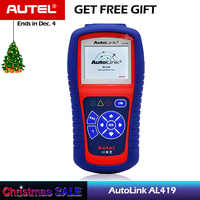 Autel AutoLink AL419 One Click I/M Retrieves Generic MIL Clears Codes Resets Monitors OBDII EOBD CAN Code Reader Scanner obd2