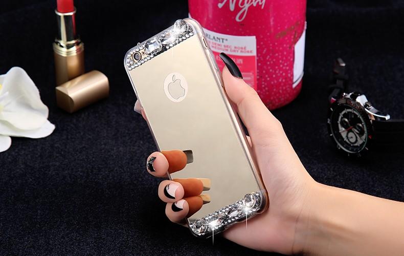 Dla iphone 6 7 case glitter lustro sprawach phone bag dla iphone 7 6 6 s plus 5S 5 se diamond case do samsung s8 plus s6 s7 krawędzi 10