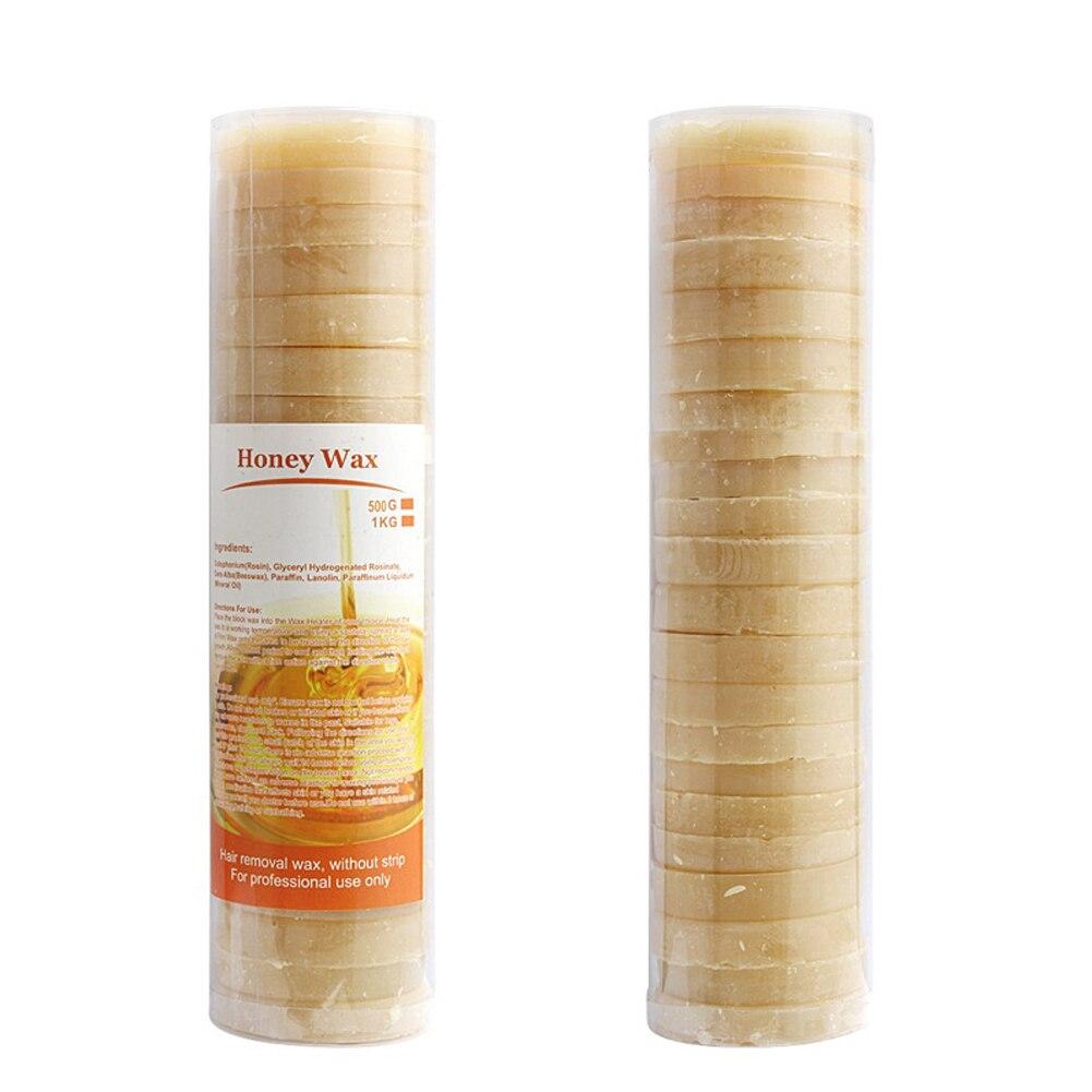 500 g Honey Tastes No Strip Depilatory Hot Film Hard Wax Beans Pellet Waxing Bikini Hair Removal Bean Navy Cake
