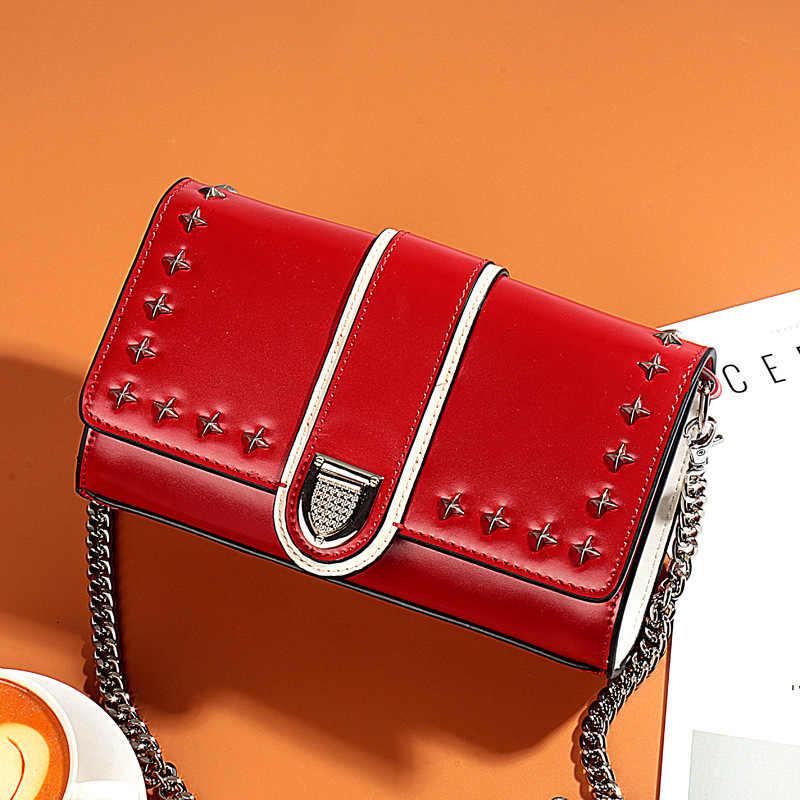 Lisse Mini bolsos de mensajero de mujer Funda de cuero genuino bolsa de cuerpo cruzado de alta calidad bolso de hombro de moda bolsos Bolsas Feminina