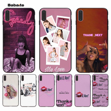 Babaite Thank U, Next Ariana Grand TPU black Phone Case Cover Shell for iPhone 8 7 6 6S Plus 5 5S SE XR X XS MAX Coque