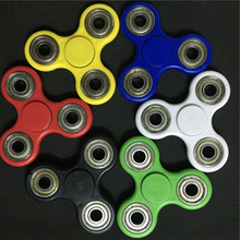 6 Colors Hand Tri-Spinner Fidget Toy Plastic EDC Sensory Fidget Spinners For Autism And ADHD Kids/Adult Funny Anti Stress Toys