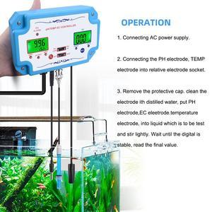 Image 2 - Yieryi 3 ב 1 pH/EC/טמפ מים באיכות גלאי pH בקר ממסר תקע Repleaceable אלקטרודה BNC סוג בדיקה מים Tester