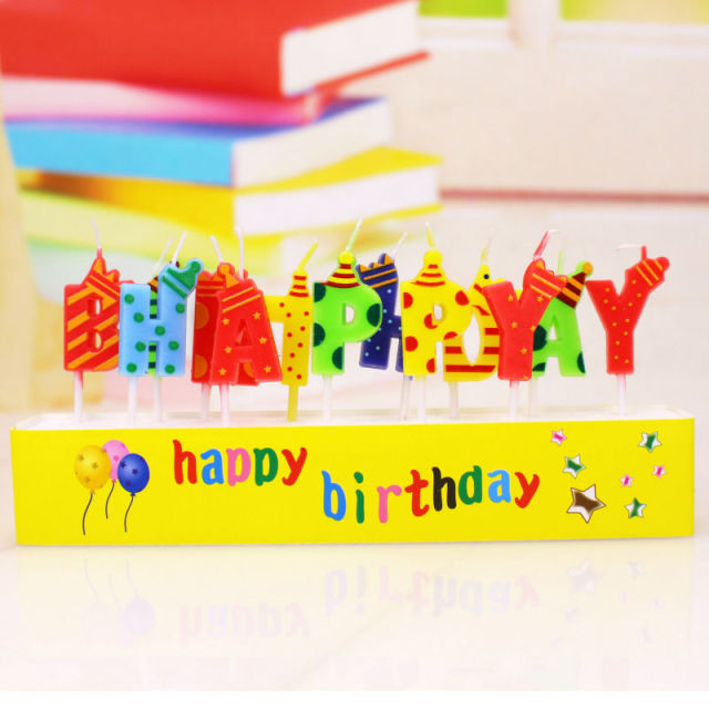 Birthday Candles Happy Cake Funny Letters For Adults Kids