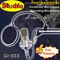 Вещания микрофон профессиональной студии звукозаписи конденсаторный микрофон микрофон с подвесом микрофонной стойки комплект