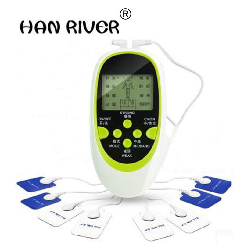 Dual-Output Electric Massager Electrical Stimulator Full Body Relax Muscle Therapy Massager Massage Pulse tens Acupuncture hwato computer random pulse acupuncture treatment instrument smy 10a nerve and muscle stimulator tens 10 channels output ce appr