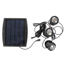 цена на TOP!-Outdoor Solar Powered LED 3 RGB Spotlight Garden Pool Pond Spot Light