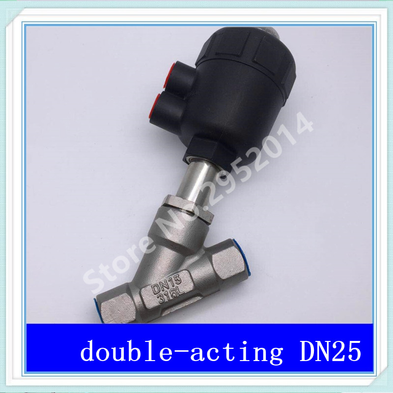 DN25 304 stainless steel pneumatic Angle seat valve with high temperature steam Y type Angle seat valve 2 DN-25 Little head dn25 high temperature solenoid valve for steam